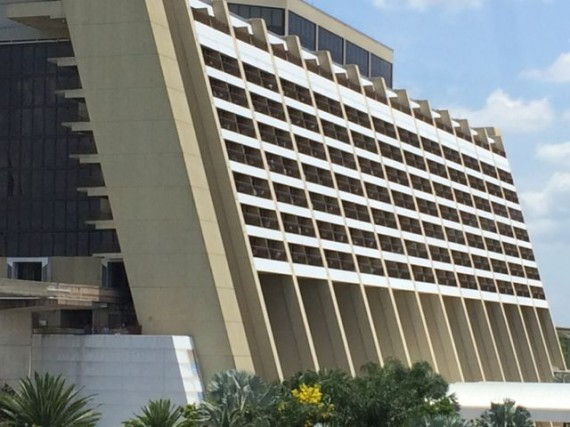 Disney's Contemporary Resort from Monorail
