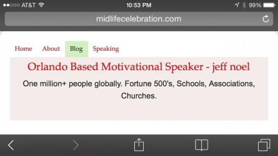 orlando based motivational speaker website on mobile