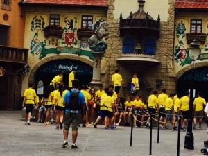 Tour group at Orlando Theme Park