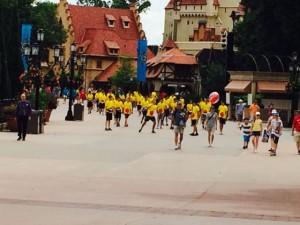 Tour group at Orlando Theme Park