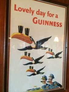 Funny beer poster in Mucky Duck restaurant on Captiva Island