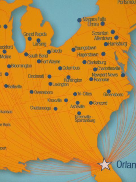 Flight maps for Allegiant cities