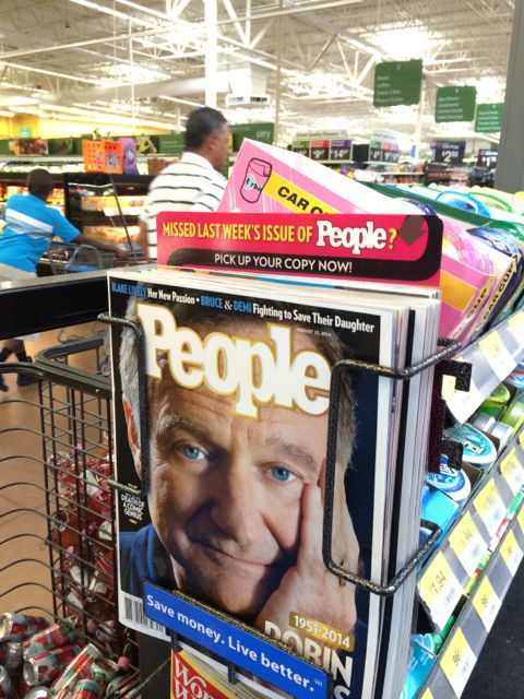 Robin Williams on cover of People Magazine after his suicide