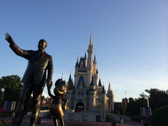 Walt Disney Partners statue at Cinderella Castle
