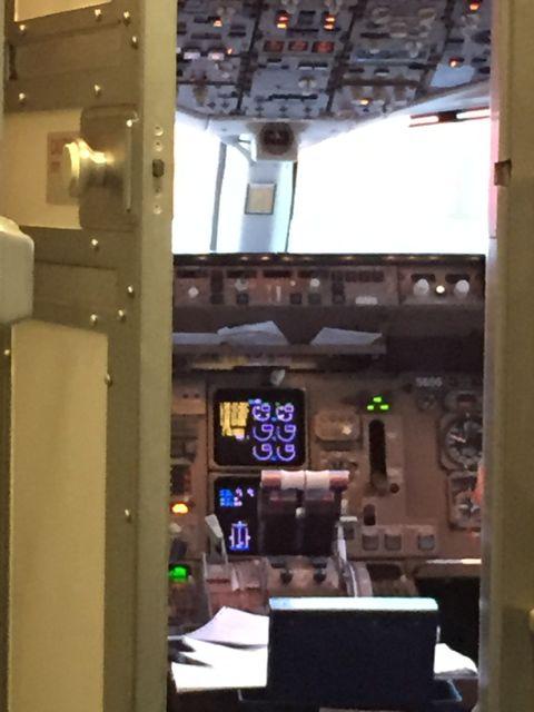 Cockpit for Delta flight
