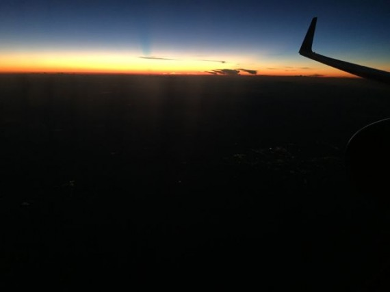 Sunset from a Delta jet
