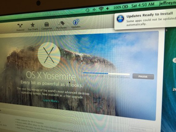 Apple Yosemite download and install