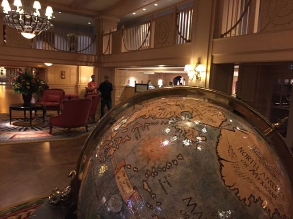 Big globe in Disney World Hotel Lobby