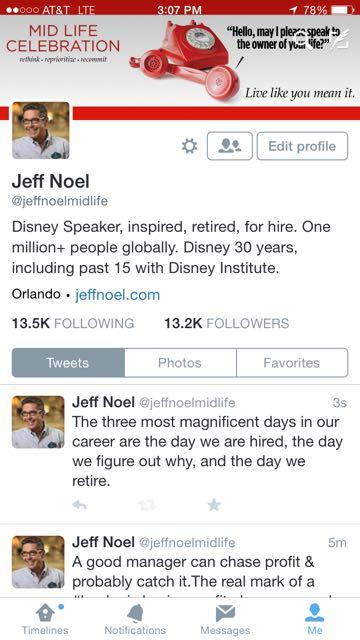Disney Speakers Twitter Profile