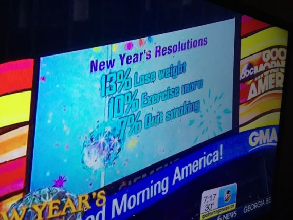 Top three New Year's Resolutions