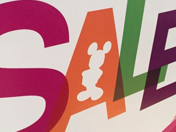 Disney Store sale sign