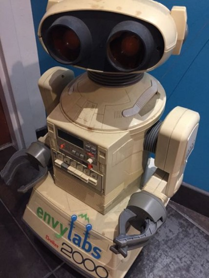Envy Labs Orlando robot mascot