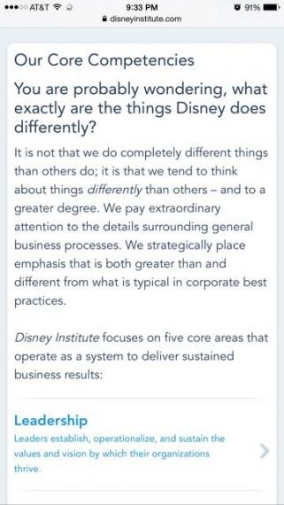 Disney Institute philosophy