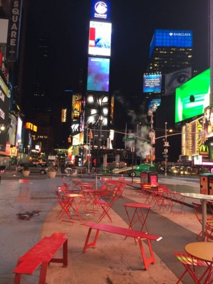 Times Square deserted