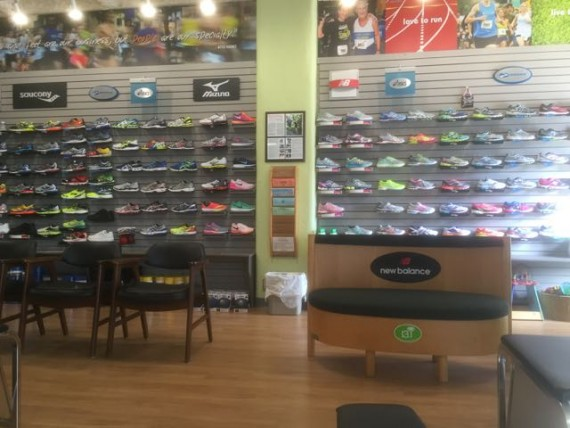 Track Shack running shoe selection
