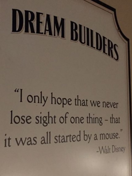 Walt Disney quote at Epcot
