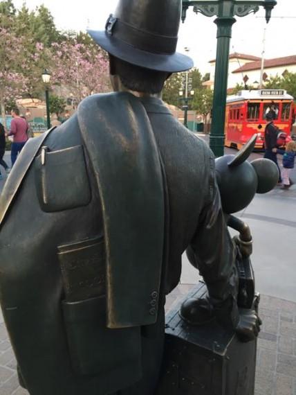 Walt Disney statue at Disney California Adventure