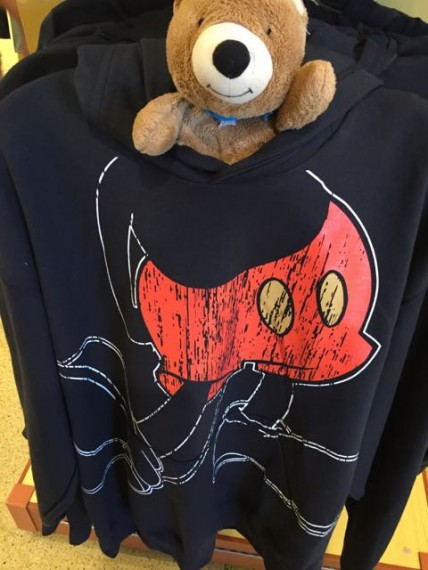 Teddy Bear in Mickey Mouse Sweatshirt