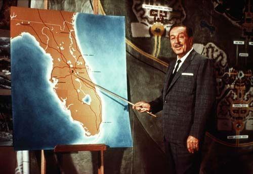 Walt Disney revealing Epcot