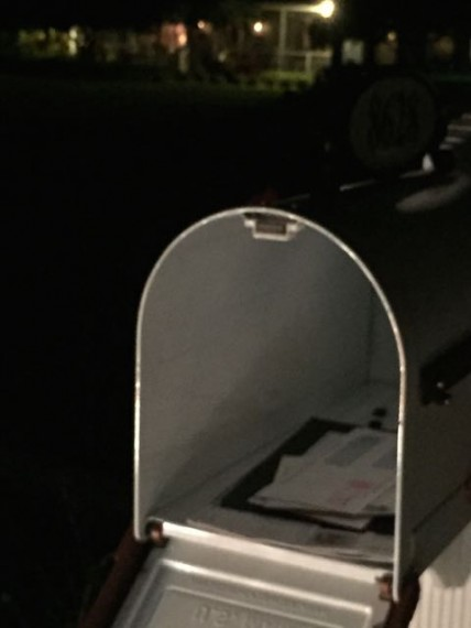 Florida mailbox with good news