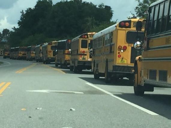 West Orange High School Bus line up