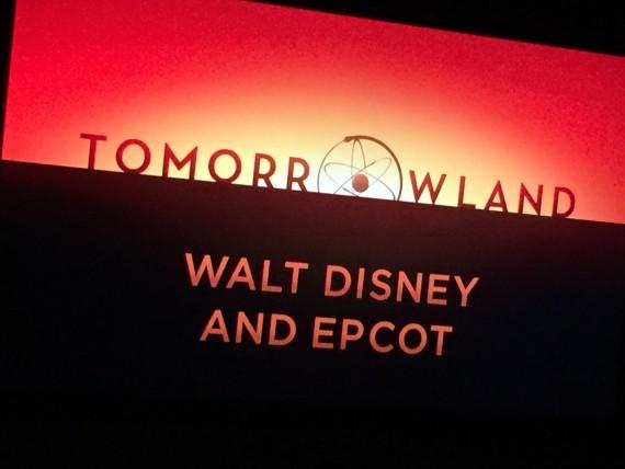 Disney's Tomorrowland movie sneak peak at Epcot.