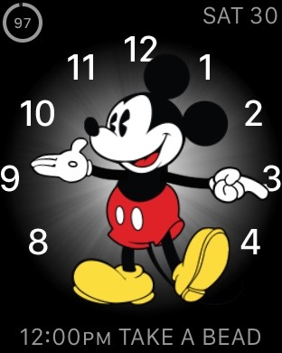 Apple Watch Mickey Mouse face screen shot