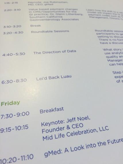 gMed Summt 2015 agenda