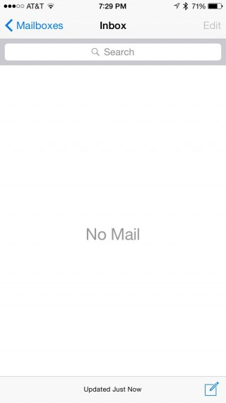Empty email in box