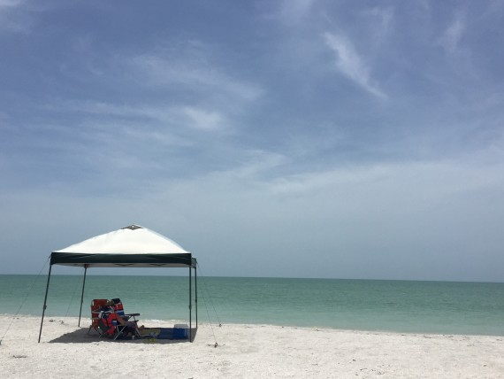 Coleman outdoor canopy at the beach