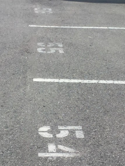 Parking lot numbers
