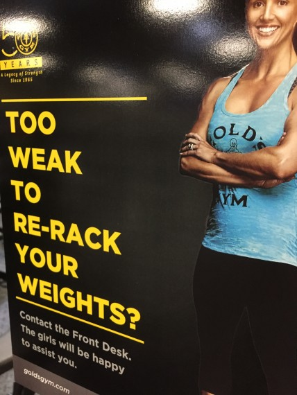Golds Gym sign