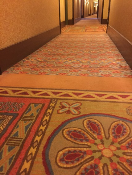Hidden Mickey in Disney Resort carpet