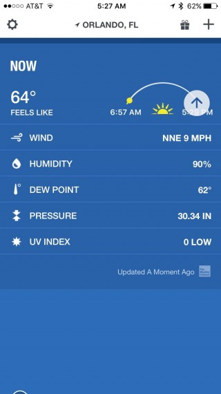 iPhone weather app screen shot