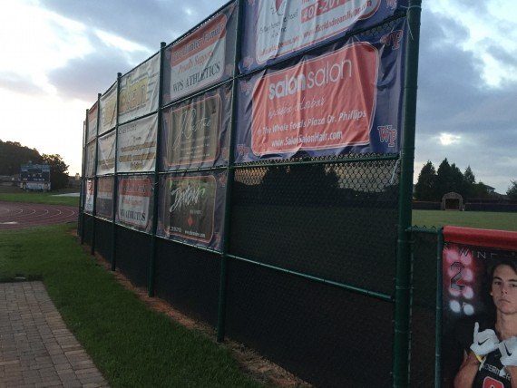 Athletic Field business advertising wall