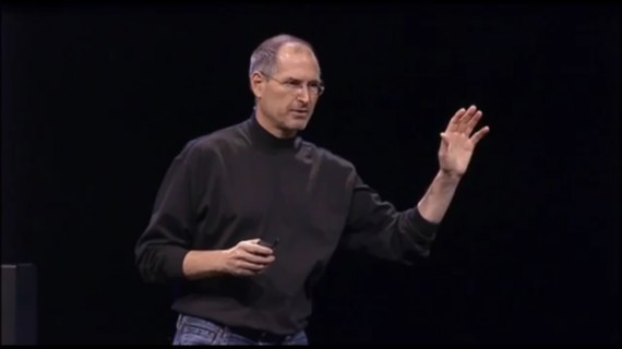 Steve Jobs revealing the first iPhone in 2007