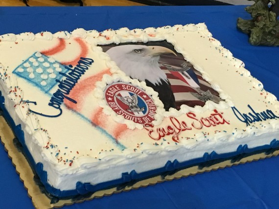 Eagle Scout celebration cake