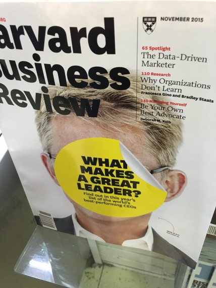Harvard Business Review Leadership cover