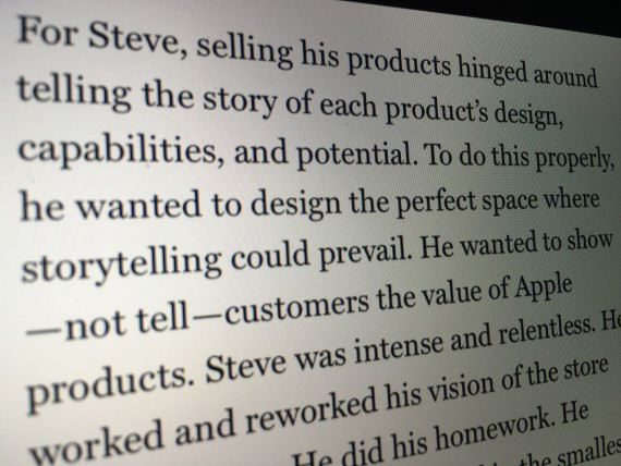 Someone writing about Steve Jobs
