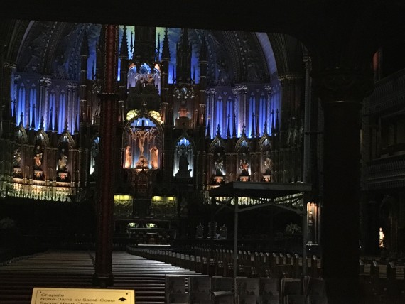 Montreal's Notre Dame Cathedral interior