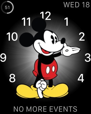 Apple watch Mickey Mouse screen shot
