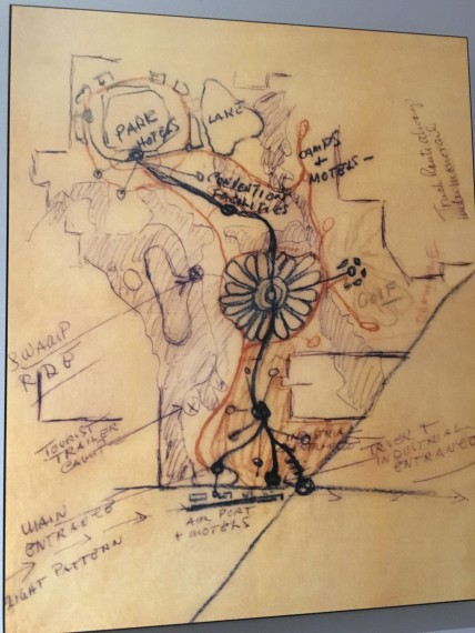 Walt Disney sketch of Florida Property