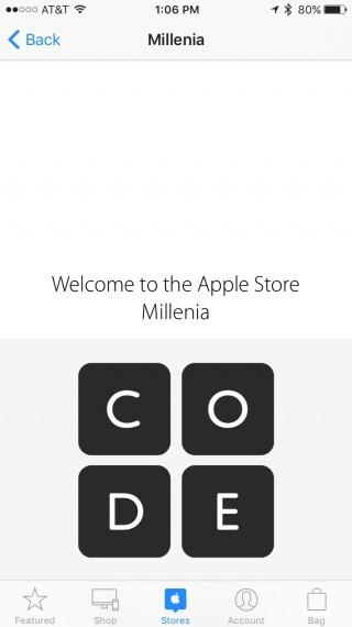 Apple Store App screen shot