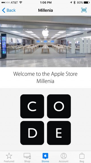 Apple Store App screen shot