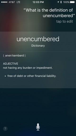 unencumbered