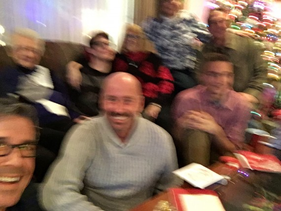 Blurry Family Christmas photo