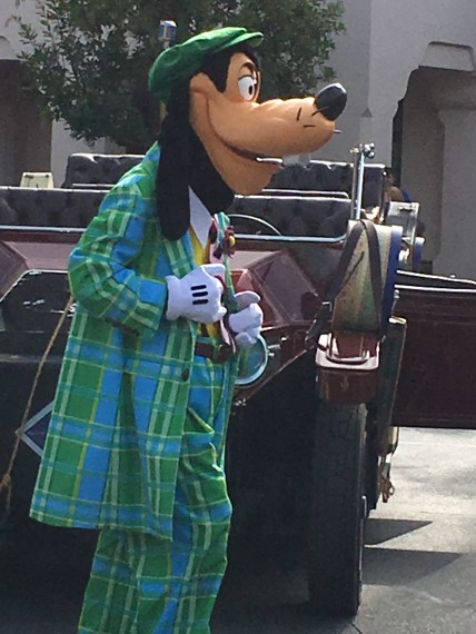 Disney's Goofy in a business suit