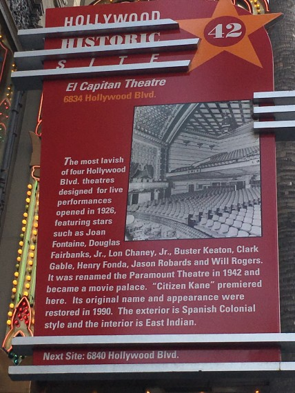 El Capitan Theater sign