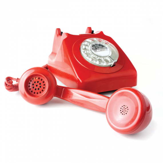 Old school rotary dial phone