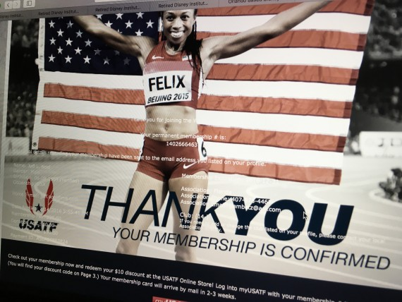 USATF membership